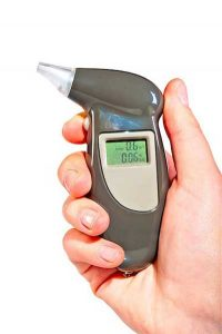 Photo of hand-held breathalyzer device used to measure blood alcohol content